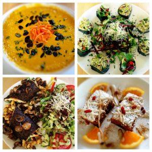Das Gesund und sündig ist ein veganes Rohkost Restaurant
