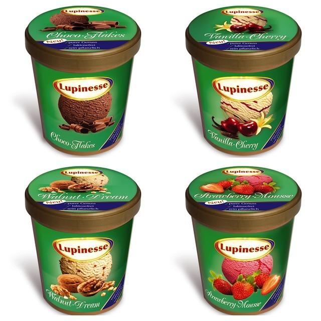 Lupiness Eis ist vegan und köstlich