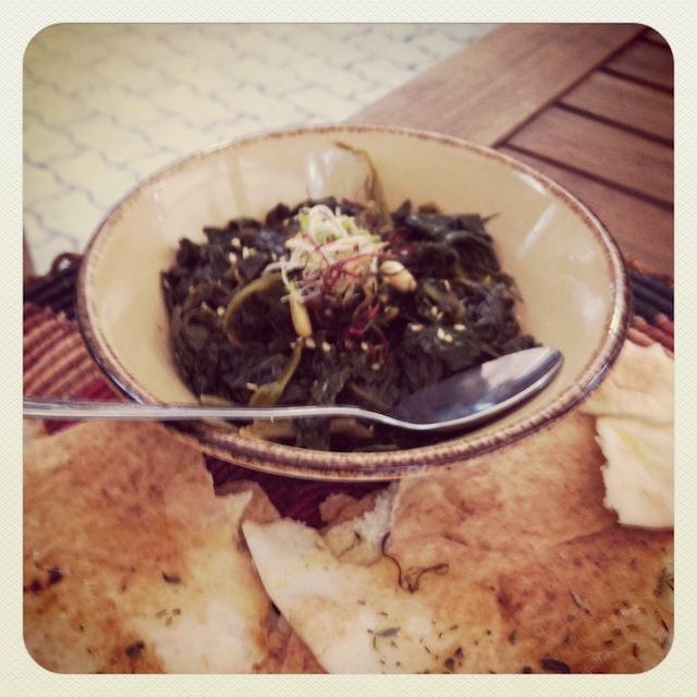 Vegane Vorspeise Spinat