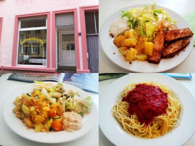 Vegetarischer und veganer mittagstisch in der sonnenblume for Mittagstisch mannheim