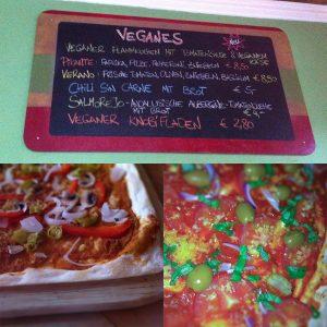Veganer Flammkuchen Cafe Klatsch