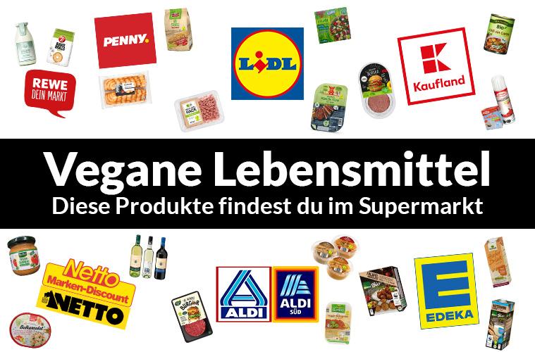 Vegane Lebensmittel aus dem Supermarkt