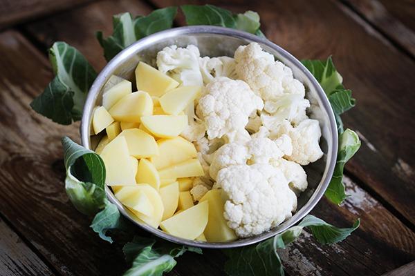 Blumenkohl und Kartoffeln