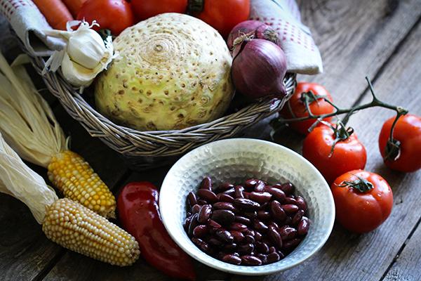 Zutaten für das Grünkern-Chili