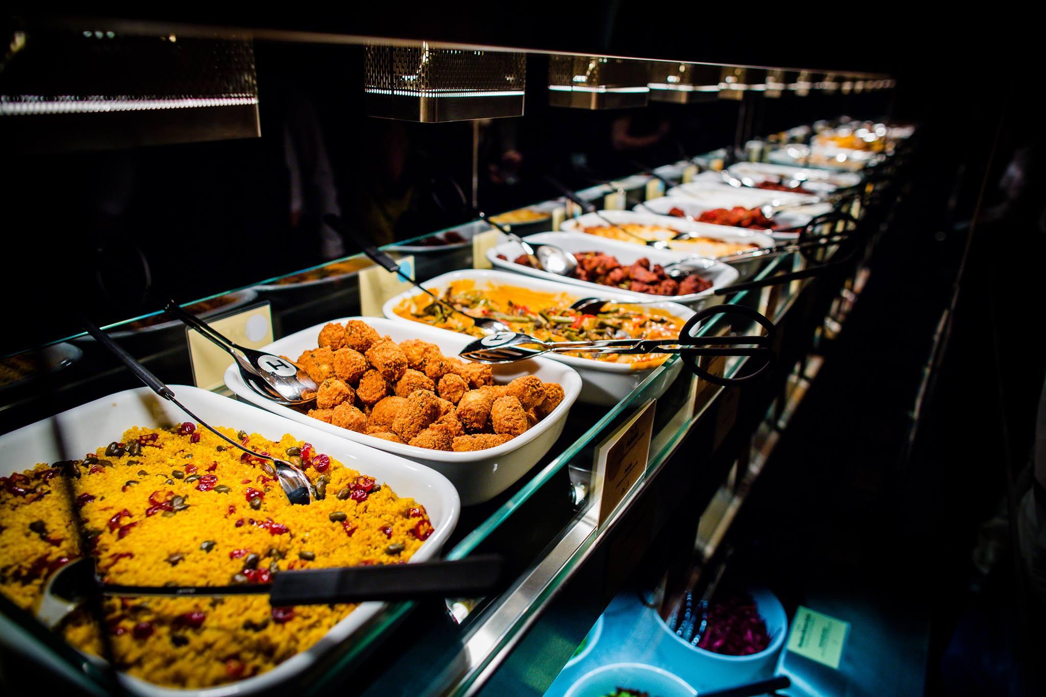 Qual der Wahl: Das Buffet im Hiltl