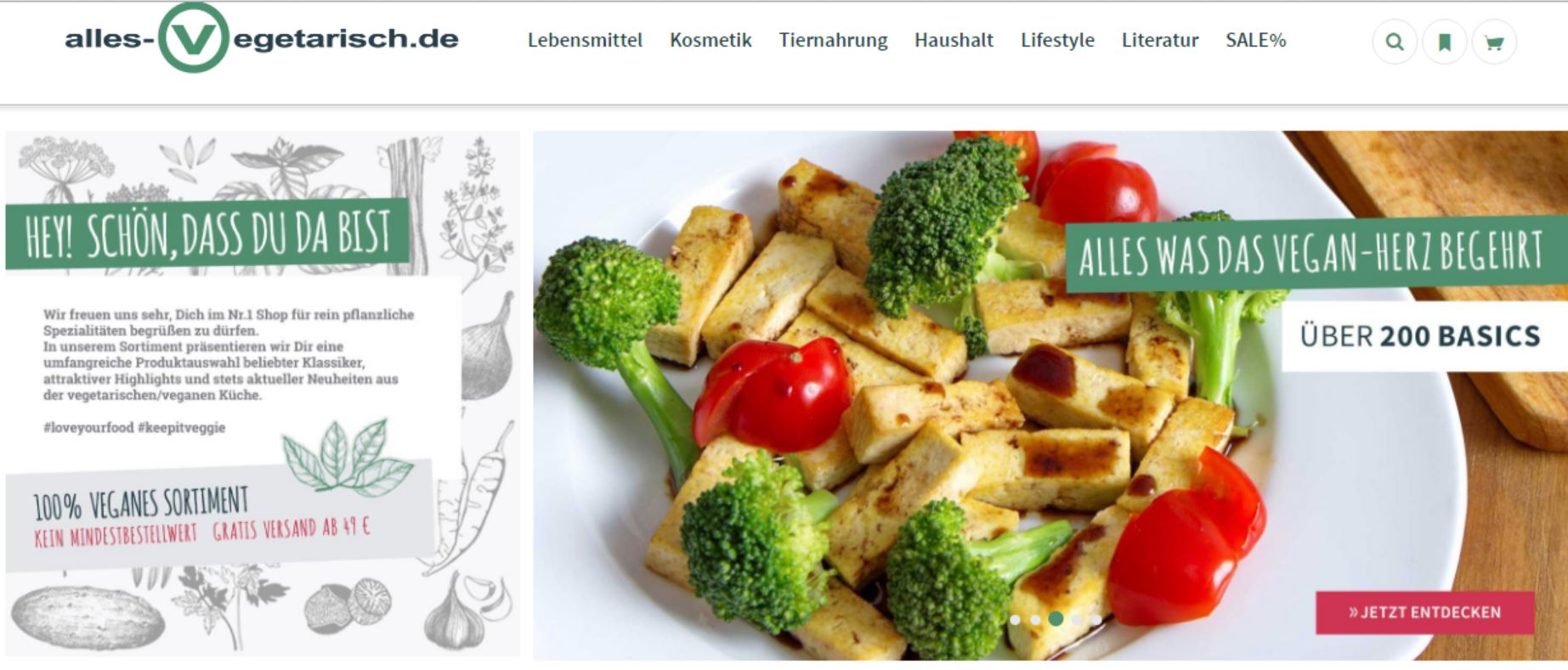 Website Alles-vegetarisch.de