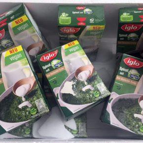 Spinat in der Tiefkühltruhe