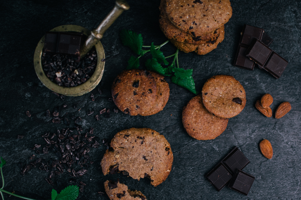 Vegane Clean Eating Chocolate Cookies