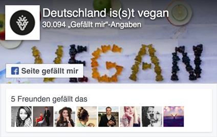 Deutschland is(s)t vegan Facebookpage