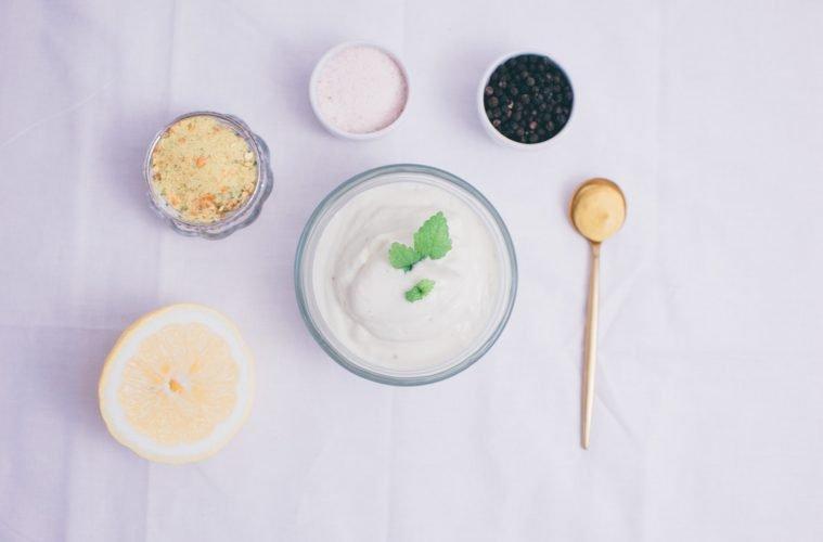 Selbstgemachte vegane Mayo