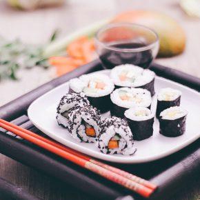 Gesundes veganes Sushi