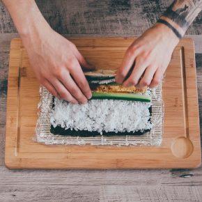 Veganes Sushi Zubereitung