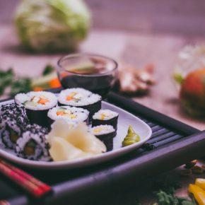 Selbstgemachtes veganes Sushi