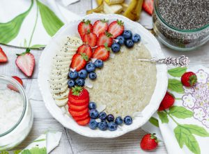 Veganes Porridge Rezept mit Kokosmilch