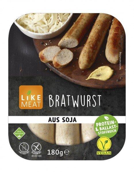 vegane bratwurst von likemeat
