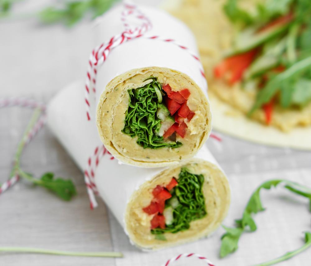 Veganer Wrap