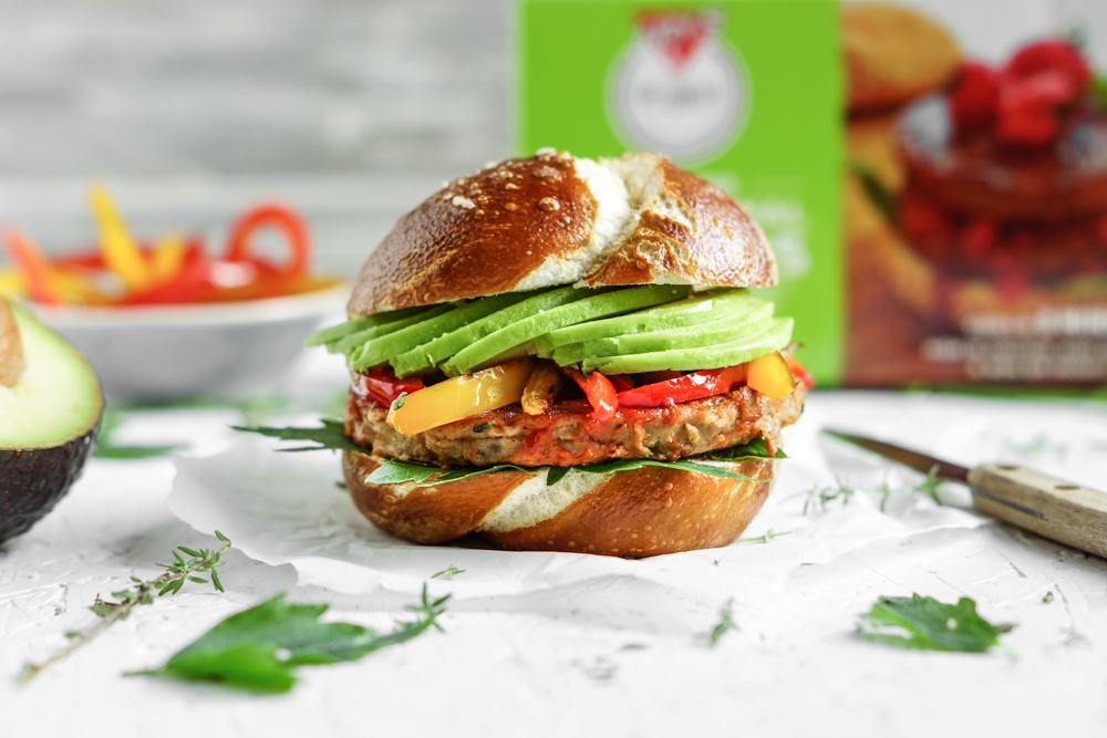 Vegane Burger Fry Family Food