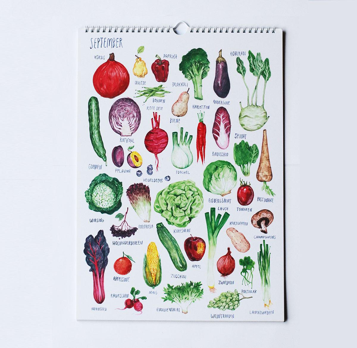 Saisonkalender von Pia Kraftfutter