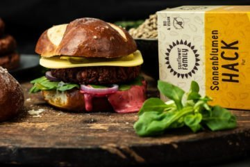 Burger aus Sonnenblumen-Hack