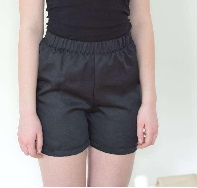 Schwarze Shorts vegan