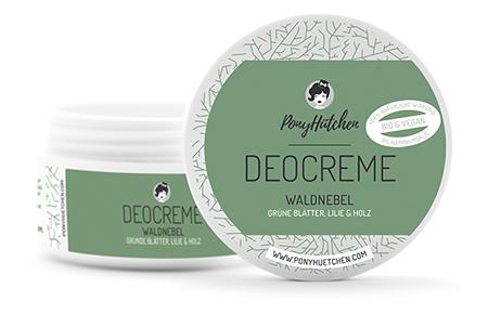 """Vegane Deocreme """"Waldnebel"""" von Ponyhütchen"""