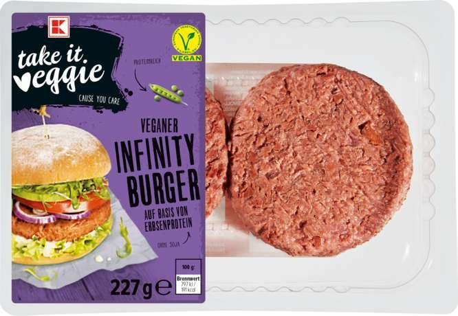 veganer infinity burger von kaufland