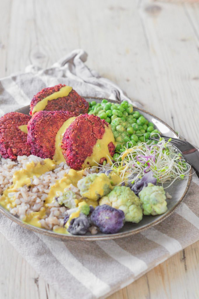 vollwertige vegane buddha bowls