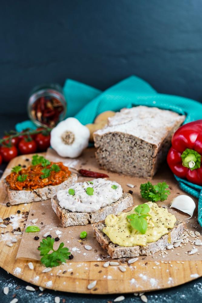 Brot vegan und glutenfrei