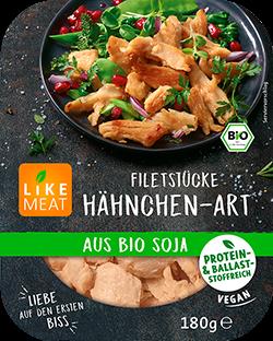 Filetstücke Hähnchen-Art aus Bio Soja