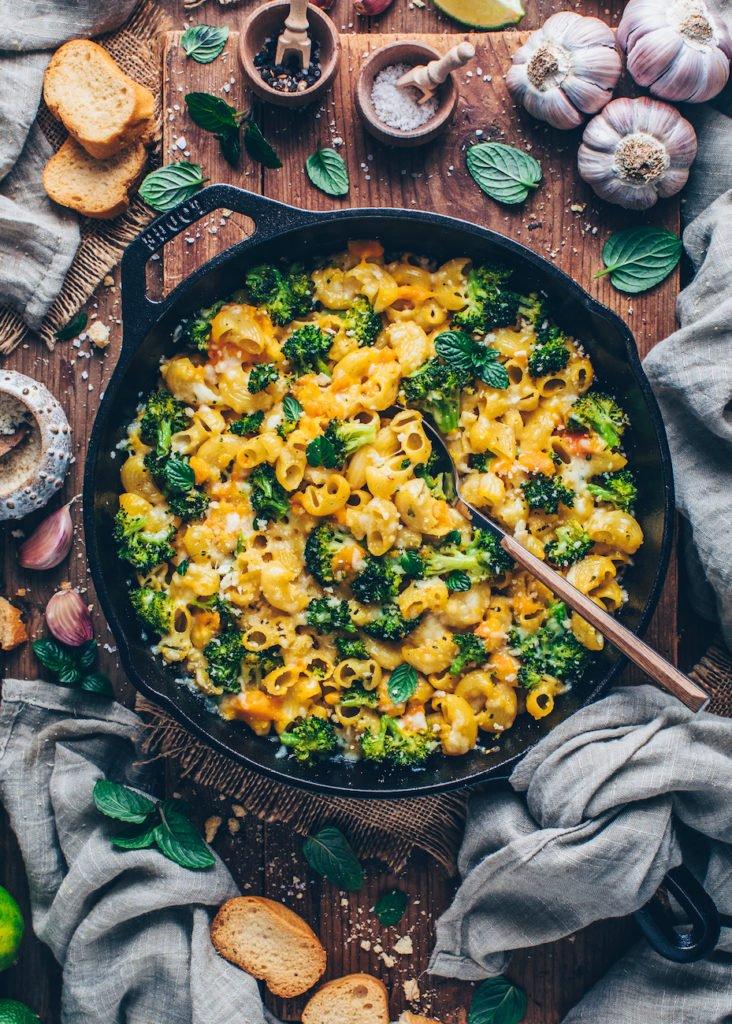 Veganer Brokkoli Nudelauflauf veganes Weihnachtsmenü