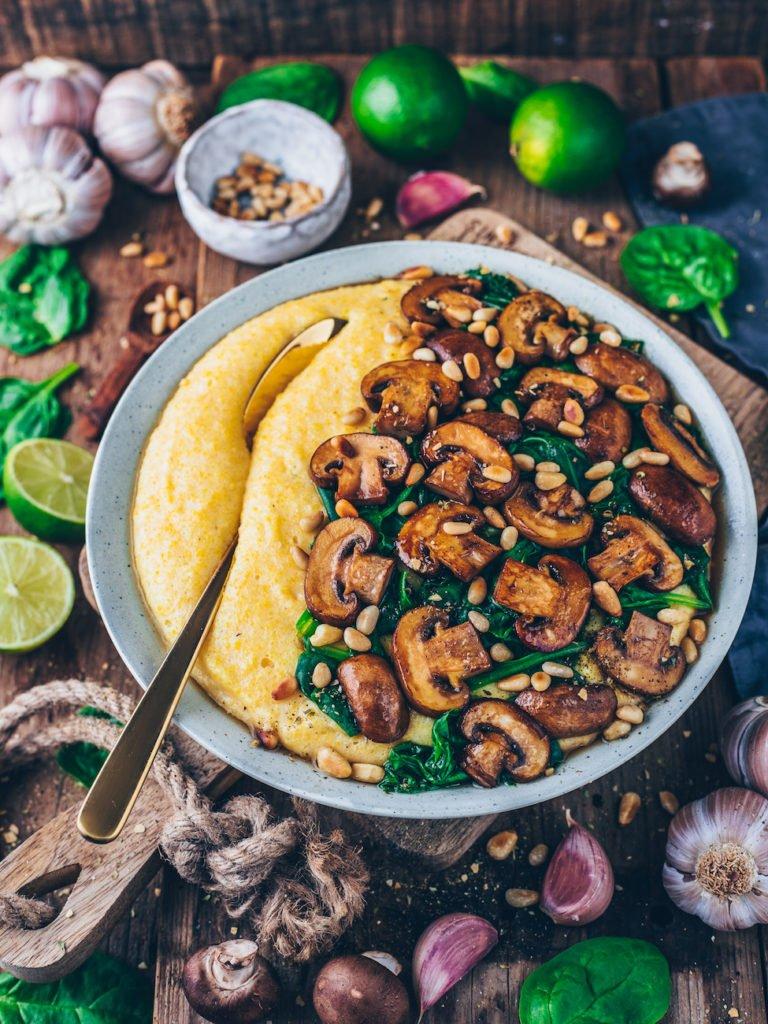 Vegane Polenta veganes Weihnachtsmenü