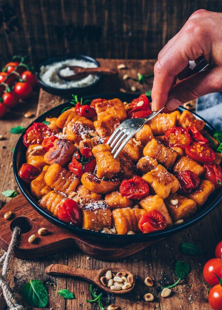 Vegane Süßkartoffel-Gnocchi veganes Weihnachtsmenü