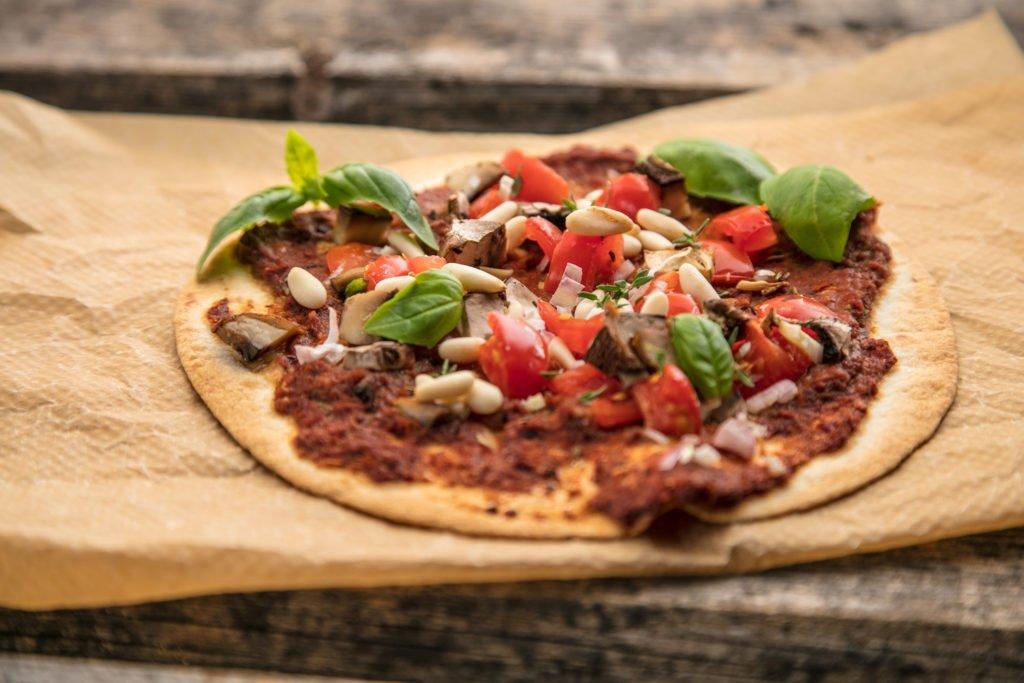 Vegane Tortilla-Pizza