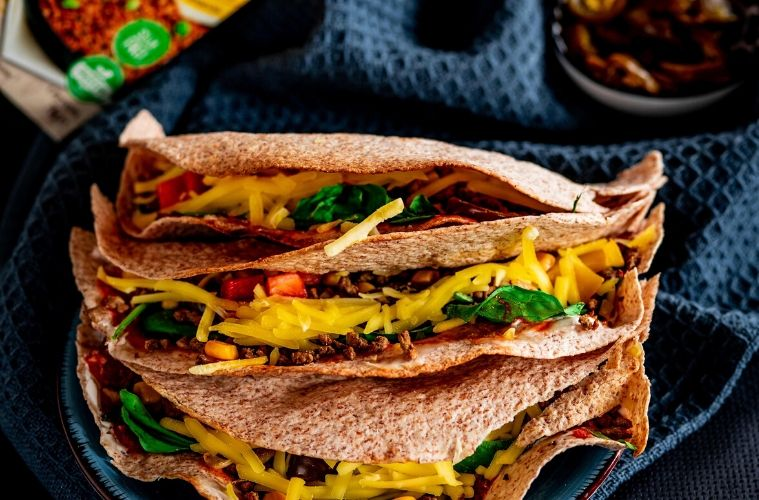 vegane Tortillas Wraps mit Hack