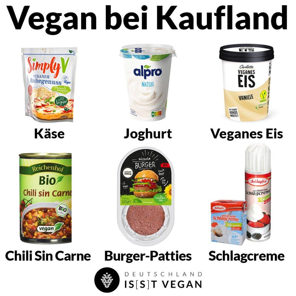 Vegane Lebensmittel aus dem Supermarkt Vegan im Kaufland