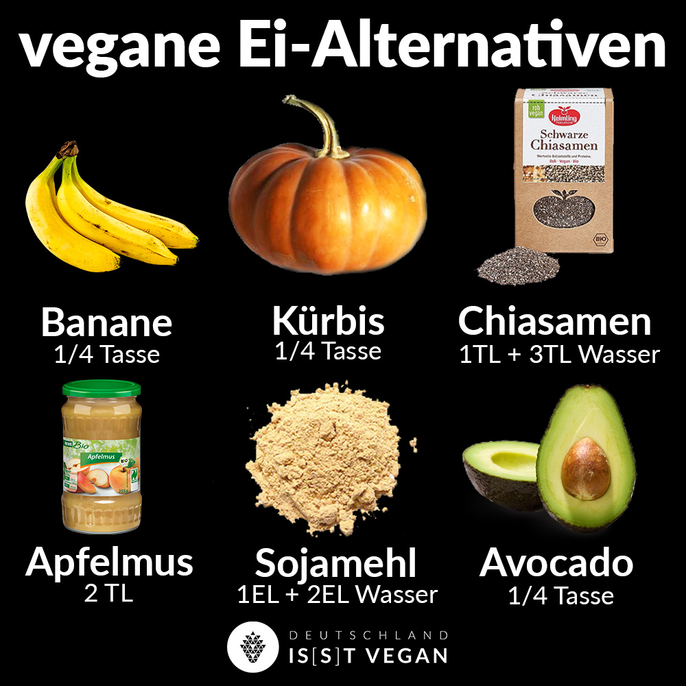 Vegane Ei alternativen