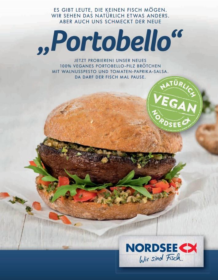 Vegane Burger bei NORDSEE essen? Mit dem Portobello kein Problem
