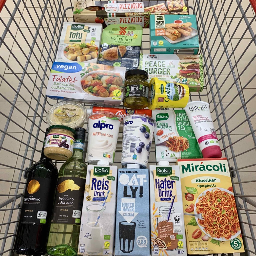 Vegan einkaufen Supermarkt netto