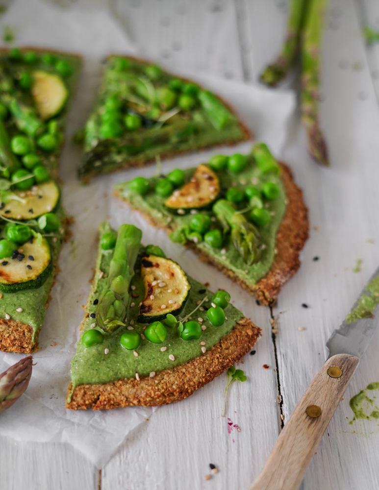 Gesunde vegane Pizza