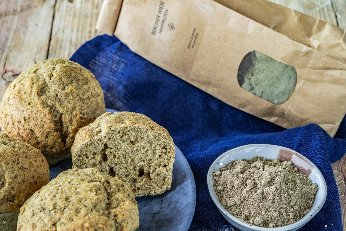 Fluffige vegane Hanfproteinmuffins mit Hanfprotein von Berliner Wiese