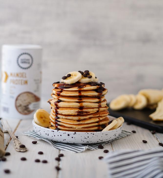 Mandelprotein Pancakes