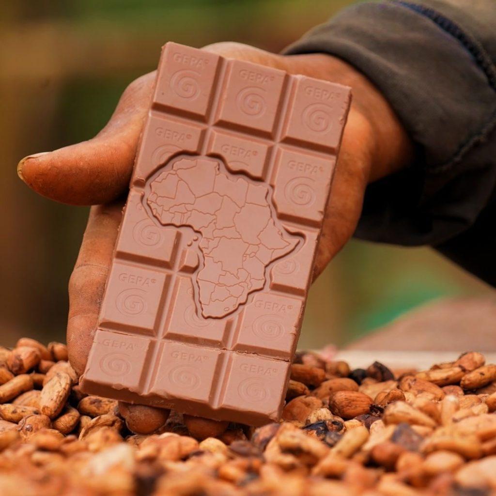 vegan schokolade fair hergestellt von GEPA