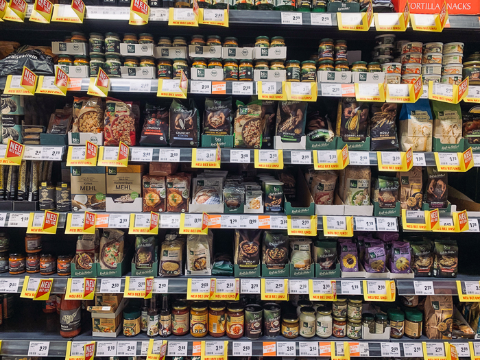 vegan im Supermarkt Rewe