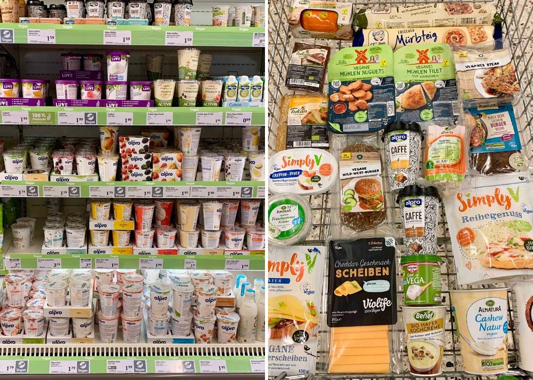 Vegane Produkte aus dem Supermarkt Globus