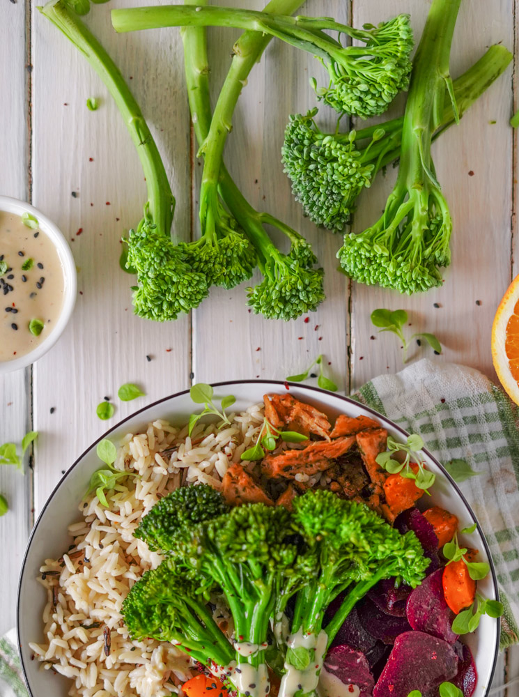 Vegane Chicken Bowl