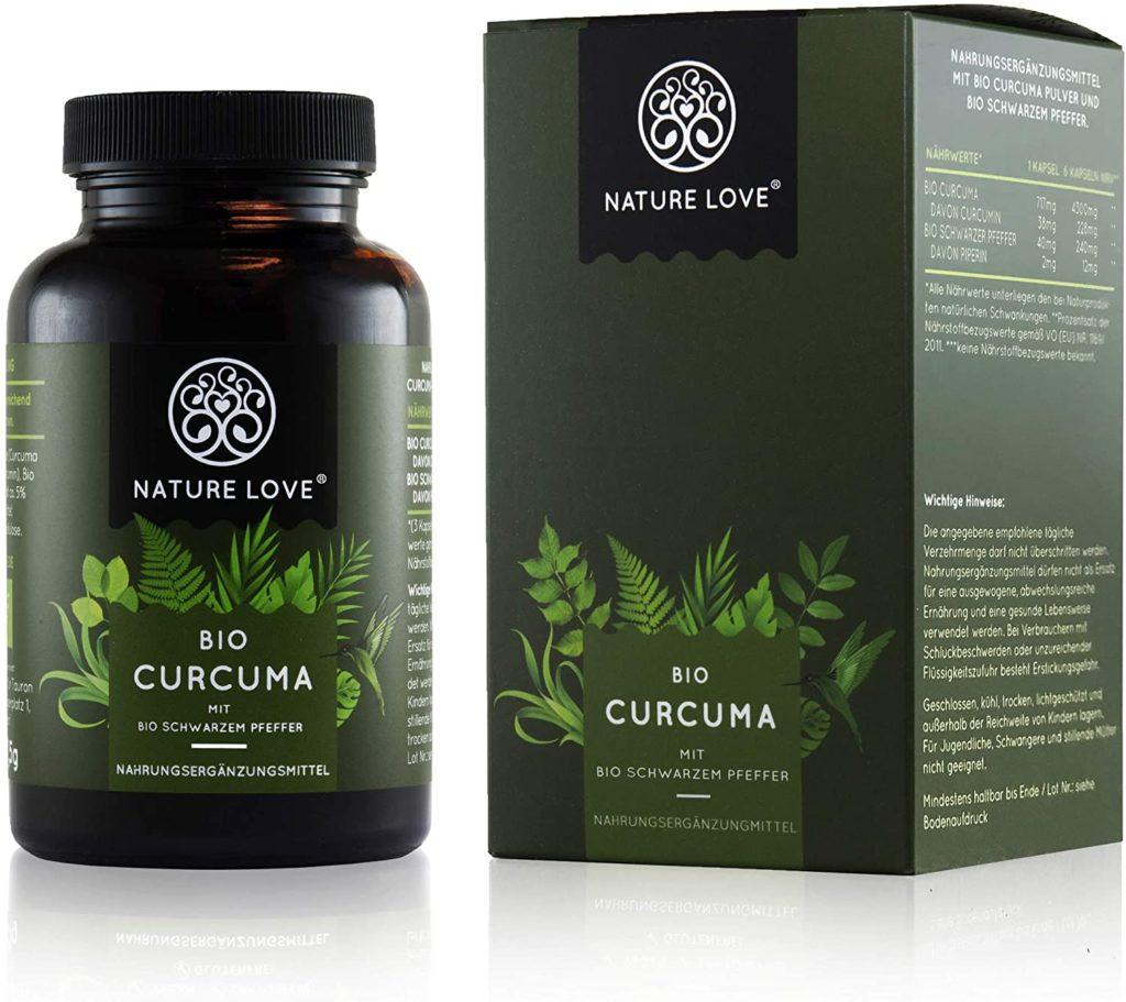Bio-Curcuma Kapseln von NATURE LOVE