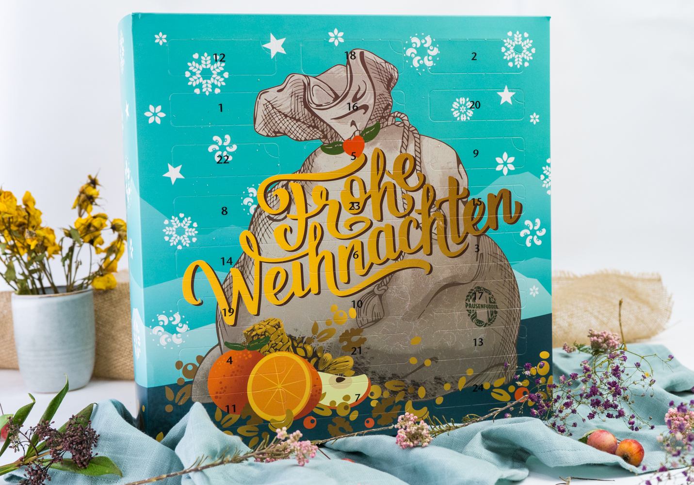 Pausenfudder gesunder Adventskalender vegan
