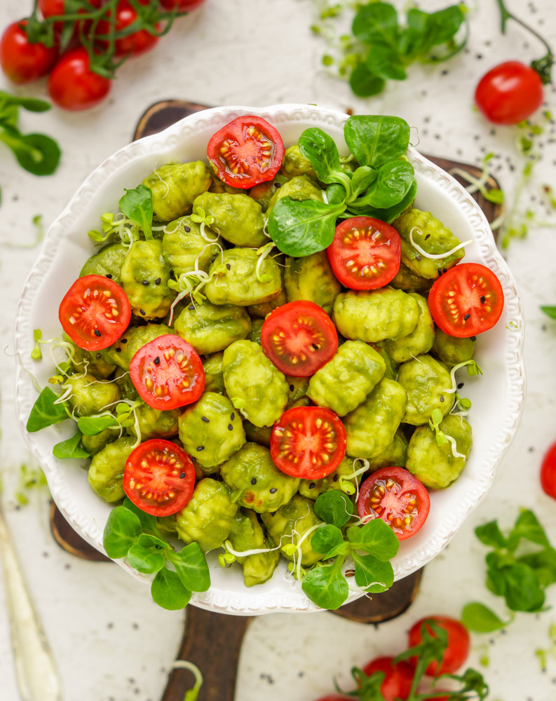 Vegane Gnocchi mit Pesto
