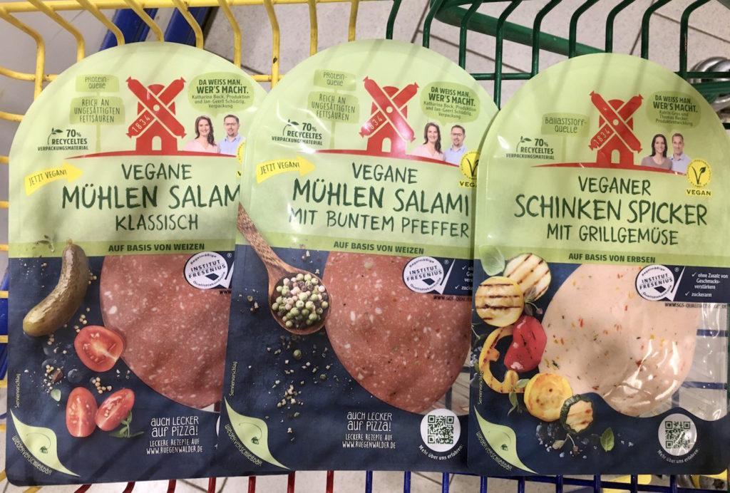 veganer wurstaufschnitt von rügenwalder vegane salami vegane mortadella
