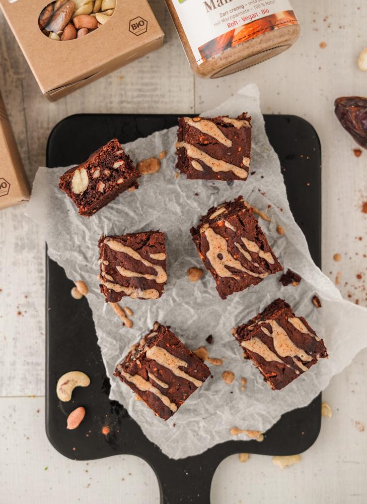 Gesunde vegane Brownies